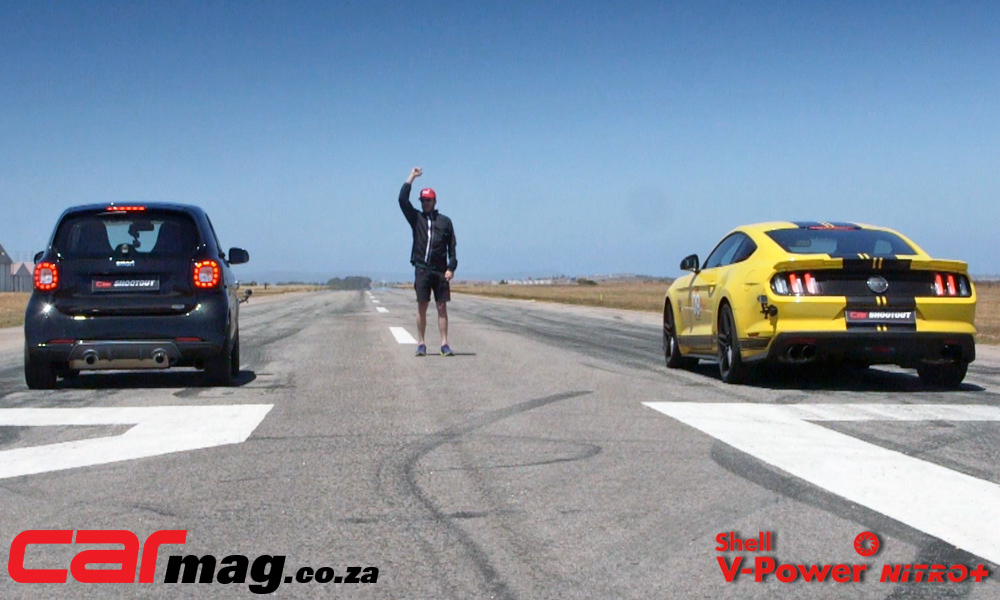 Smart ForTwo Brabus vs. Roush Mustang
