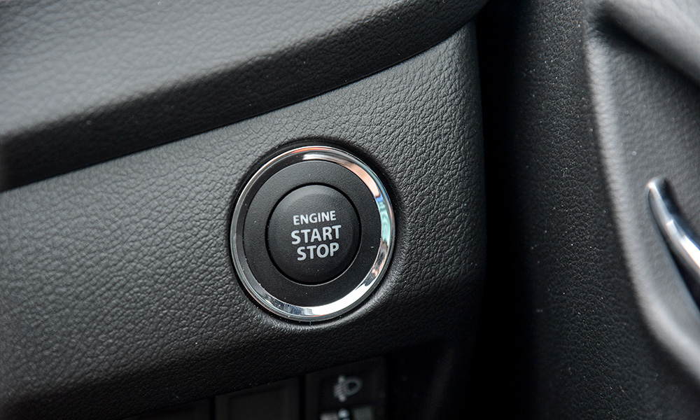 Start/stop button sited to the right of the steering wheel.
