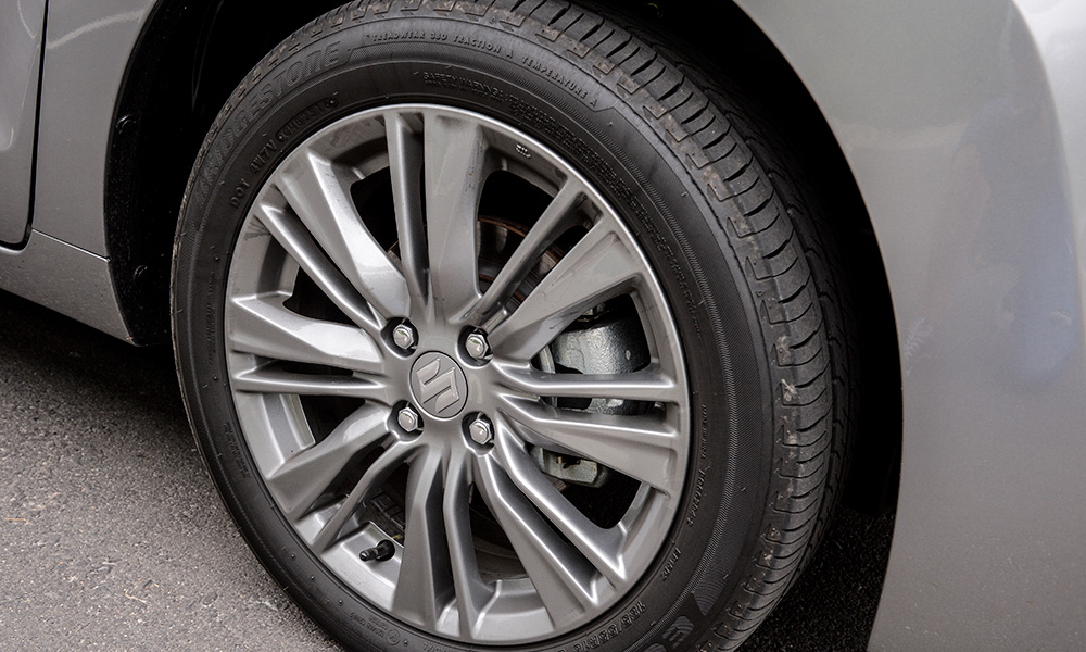 These grey alloys are standard on the GLX model.