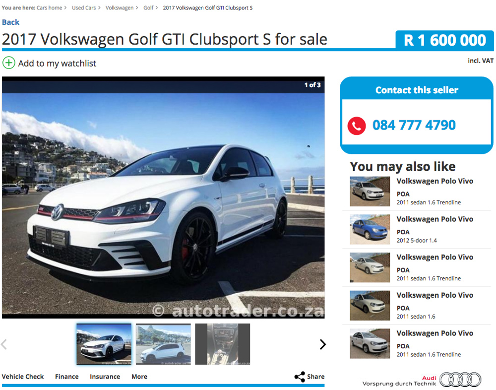 Huge Asking Price For Used Vw Golf Gti Clubsport S Car Magazine