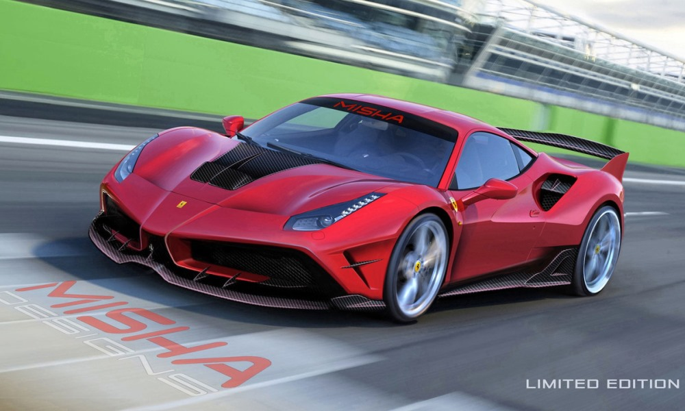 Misha Designs turns Ferrari 488 GTB into mini FXX K