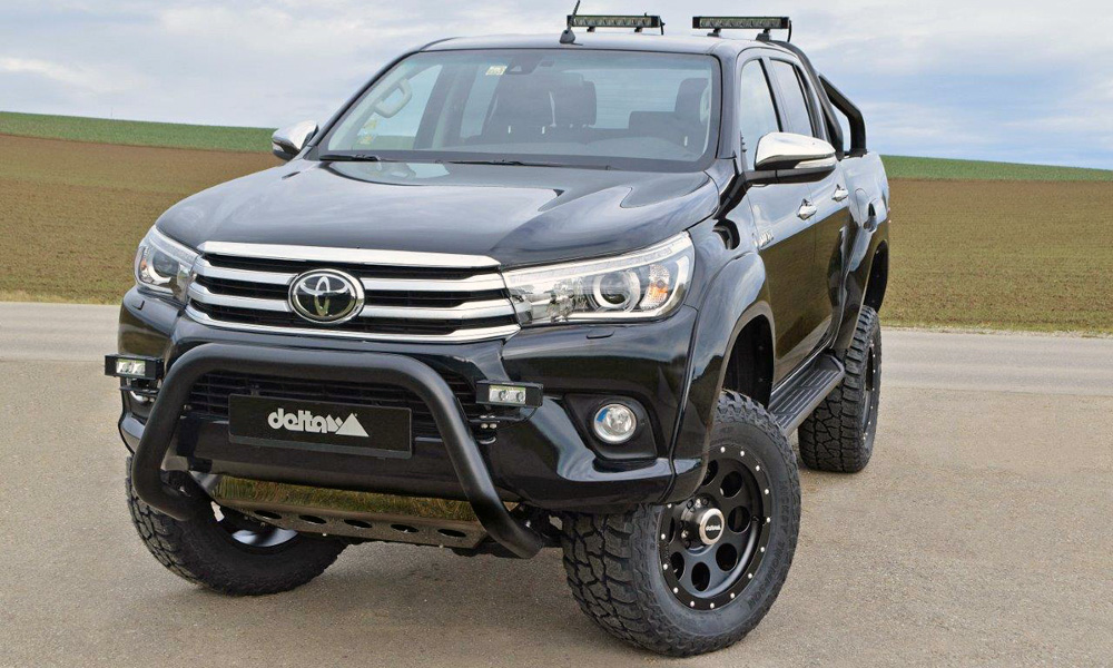 Say hello to the toyota hilux off roading beast car magazine the led light bar comes courtesy of piaa mozeypictures Choice Image
