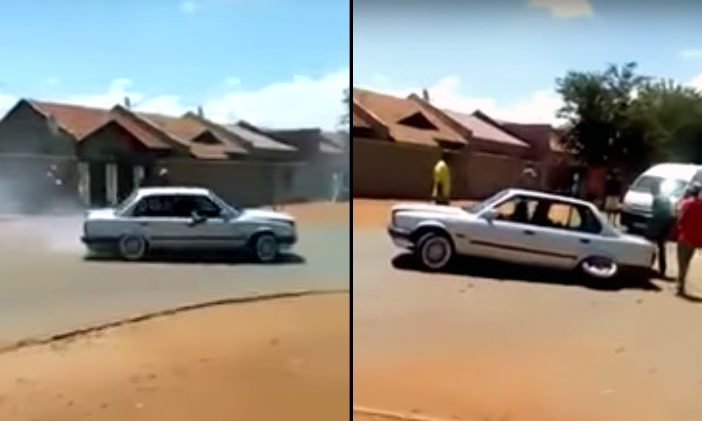 E30 BMW 3 Series spinning in SA