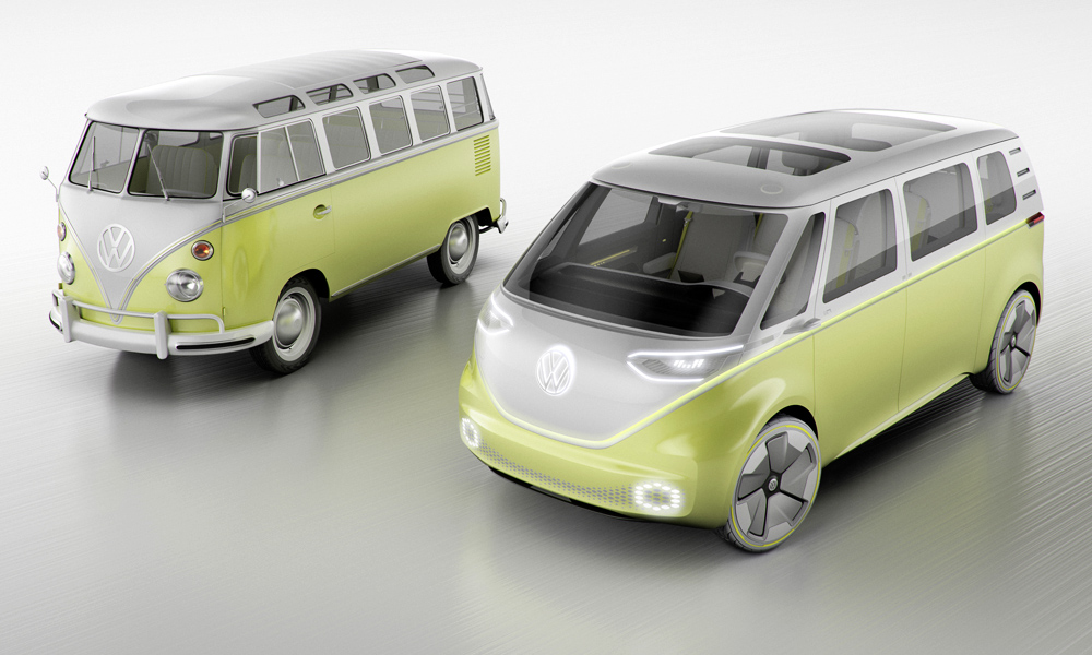 The Volkswagen ID Buzz concept is a new take on the iconic Microbus.
