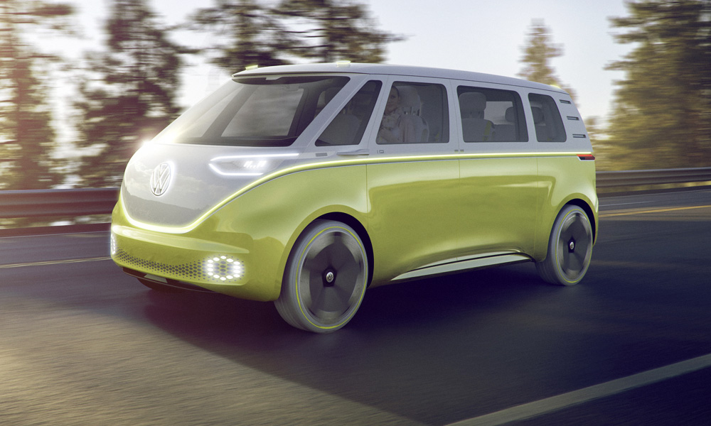 The ID Buzz concept is both electric and autonomous.