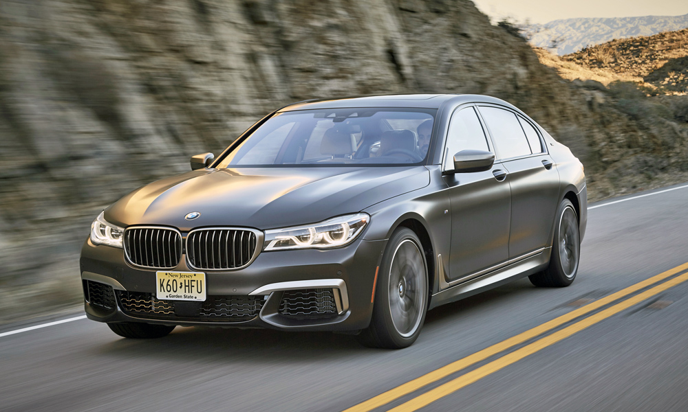 The BMW M760Li xDrive employs a hefty V12.