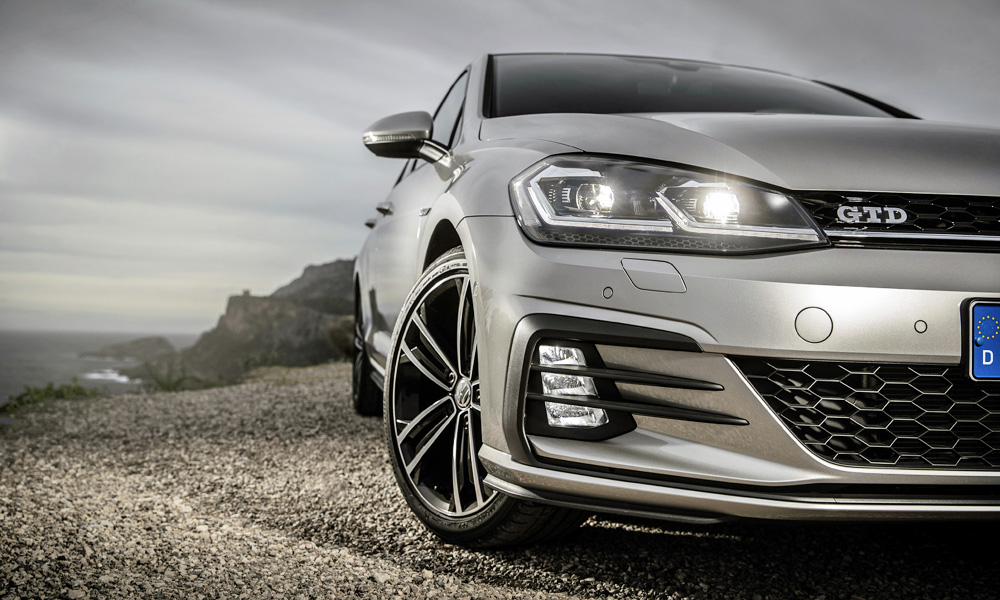 It shares plenty of styling traits with the GTI.