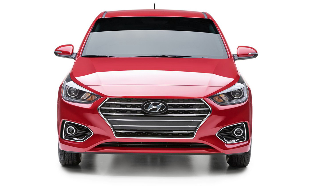 The new Hyundai Accent adopts the latest family face.