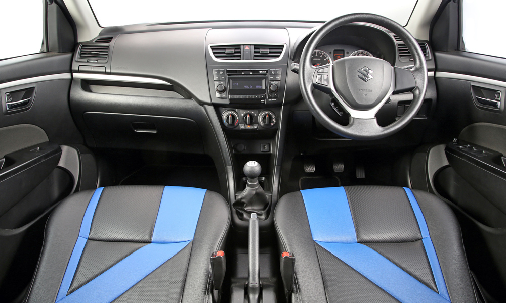 The 1,2 RS features unique seat covers.
