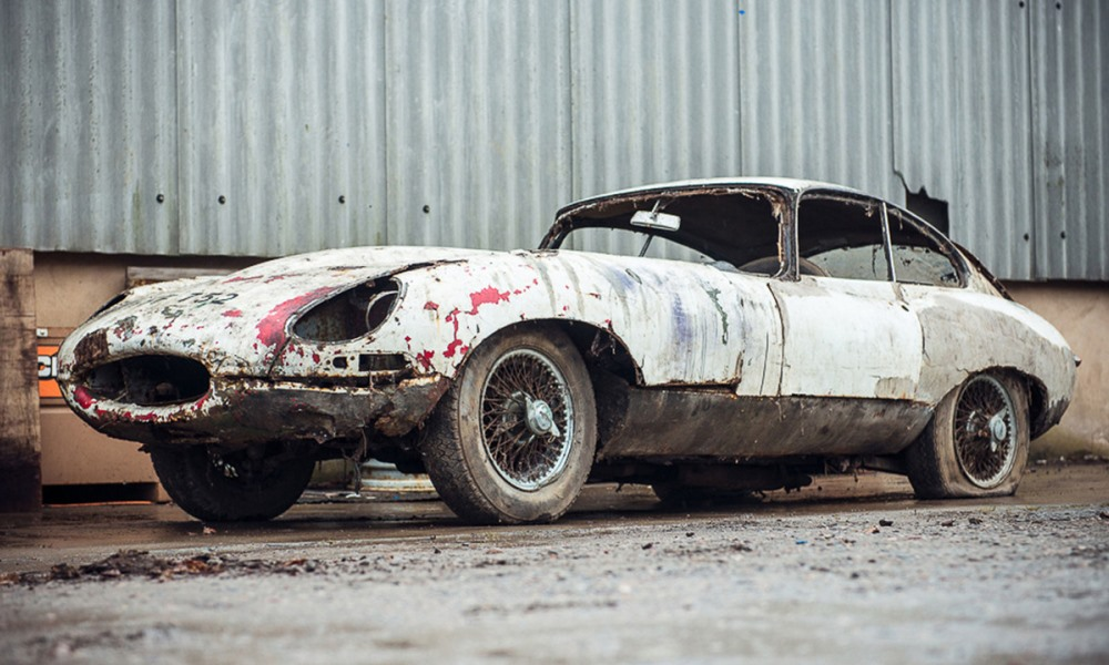 Decayed Jaguar E-Type
