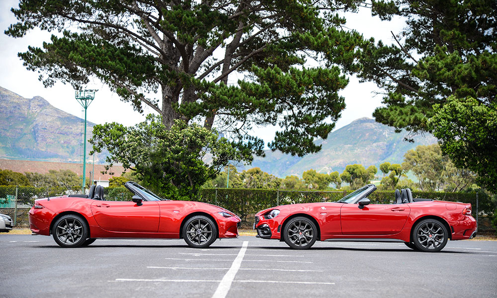 The 124 Spider is significantly longer than the MX-5 on which it is based.
