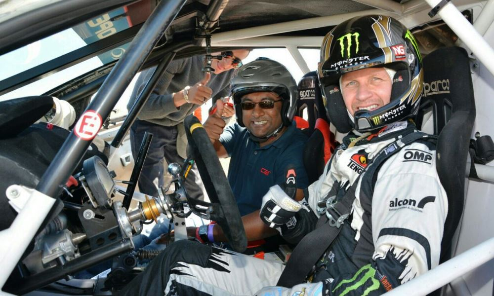 Associate Editor Matai takes a quick tour of the FIA RX track with Petter Solberg