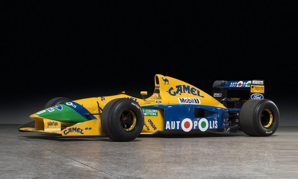 This car was piloted by two legendary drivers.