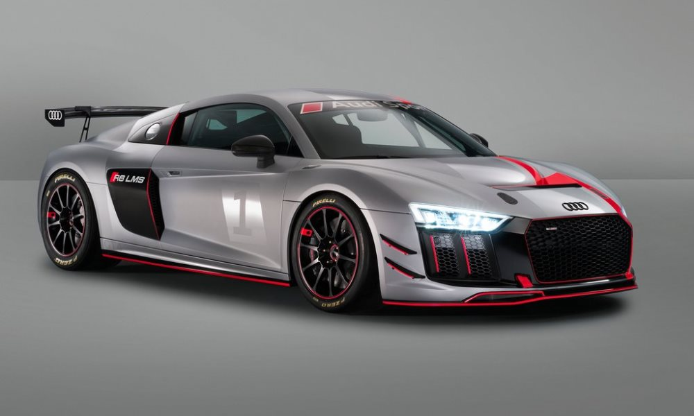 The Audi R8 LMS GT4 shares 60% of its components with the road car.