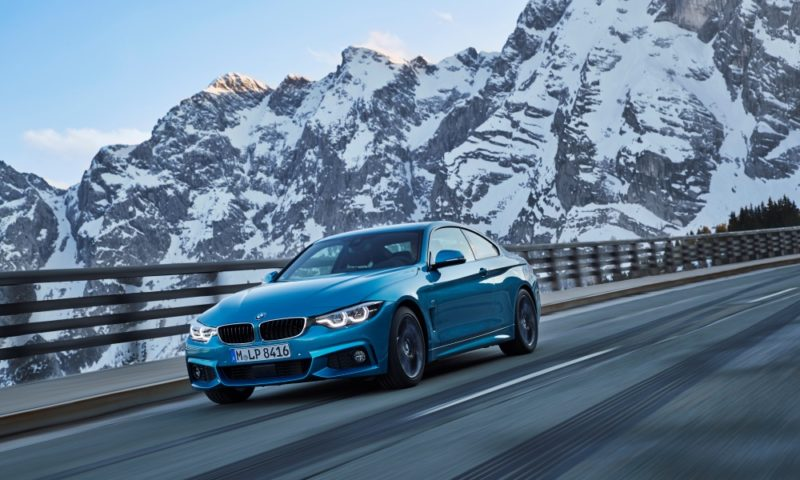 BMW 440i Coupe driving front