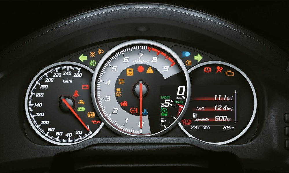 Revised instrument cluster now with TFT display.
