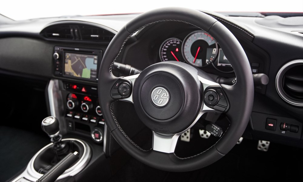 Thinner steering wheel now features remote controls.