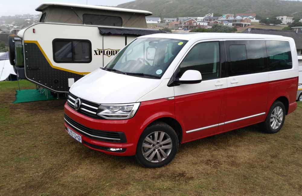 Volkswagen Caravelle stood out at the campsite
