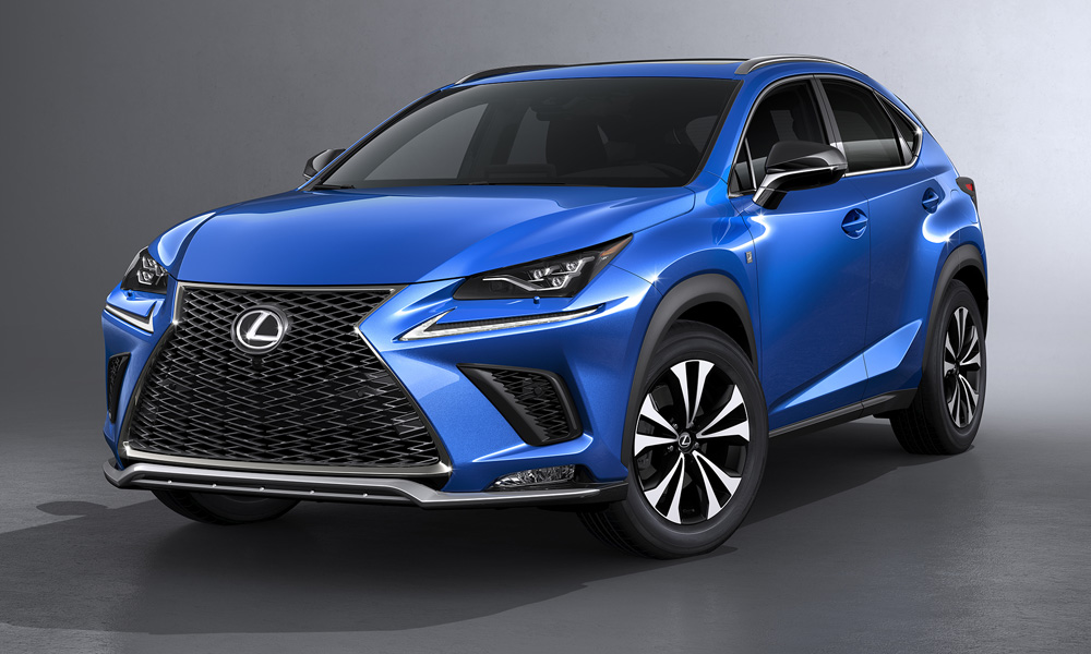 The updated Lexus NX has been revealed, seen here in F Sport trim.
