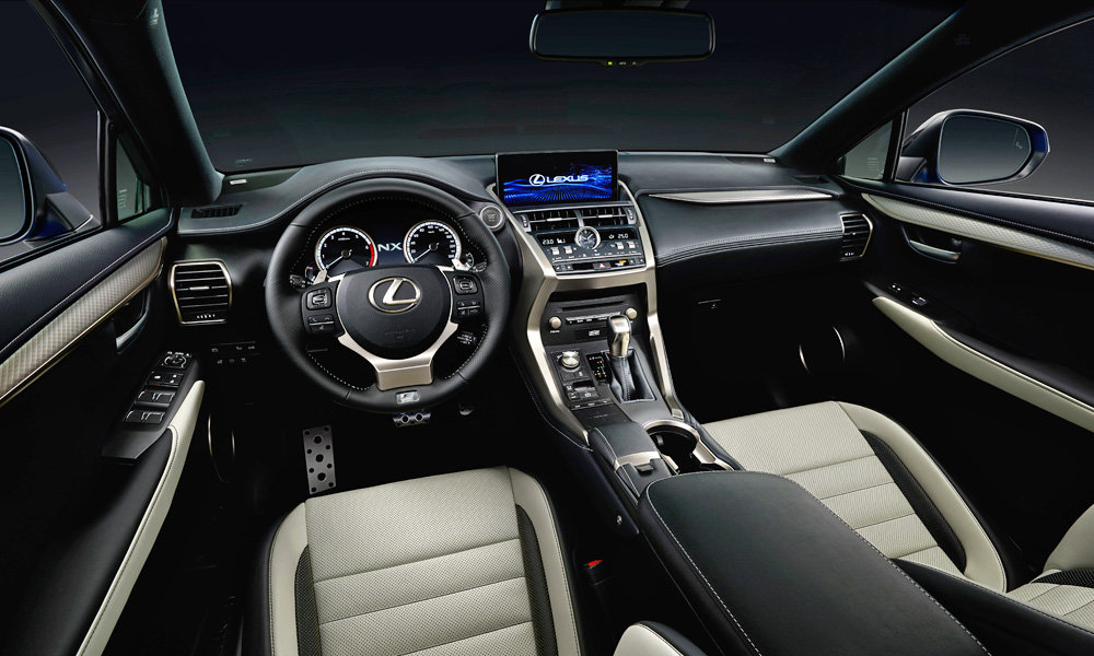 Lexus has made several small changes inside.