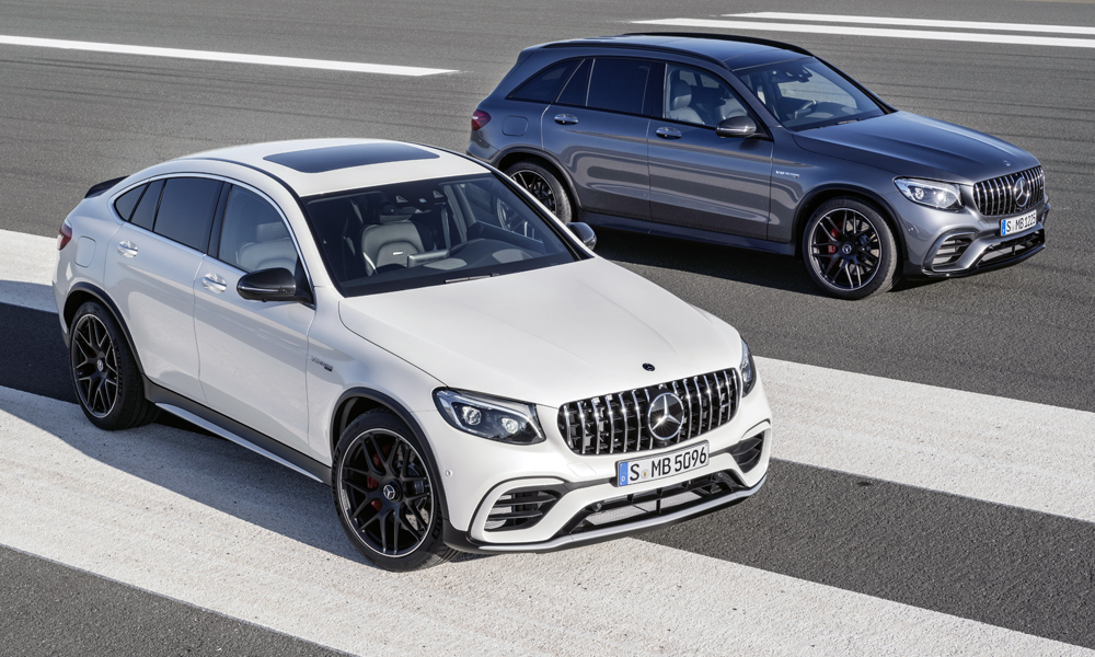 The Mercedes-AMG GLC63 will be available in both standard and coupe body styles.