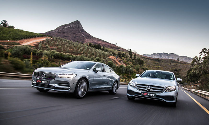Mercedes Benz E220d vs. Volvo S90 D5