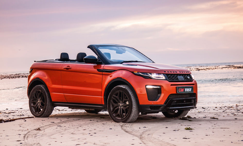 road test range rover evoque convertible car magazine. Black Bedroom Furniture Sets. Home Design Ideas