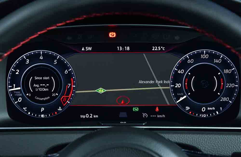 Instrument cluster now a single full screen (optional) as seen on other VW products.