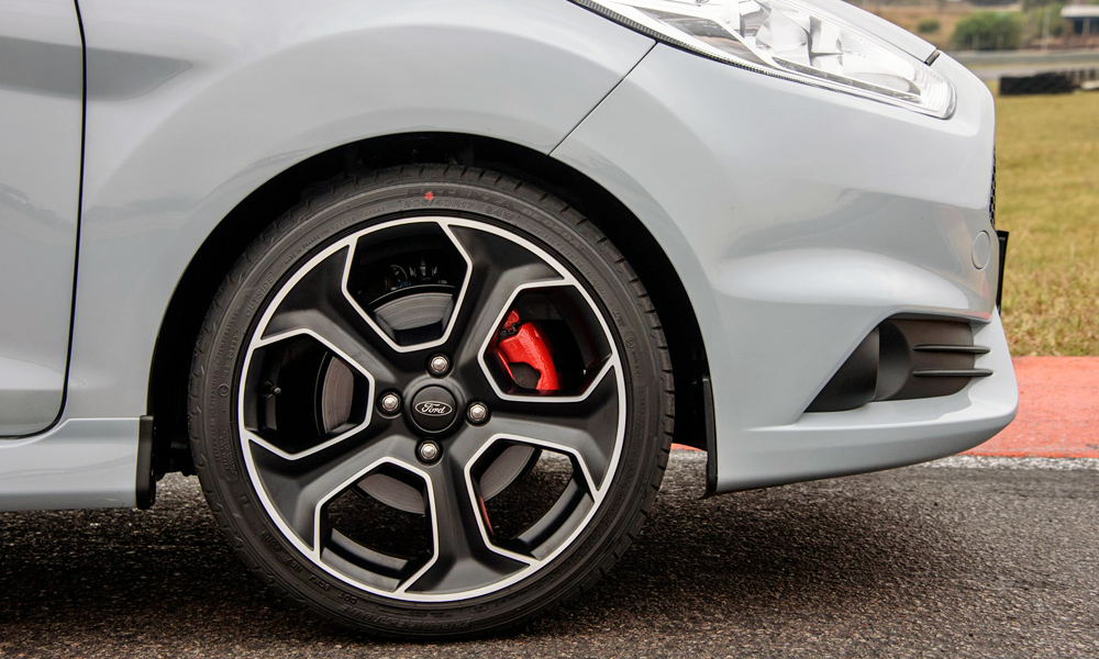 These 17-inch five-spokes comes standard.