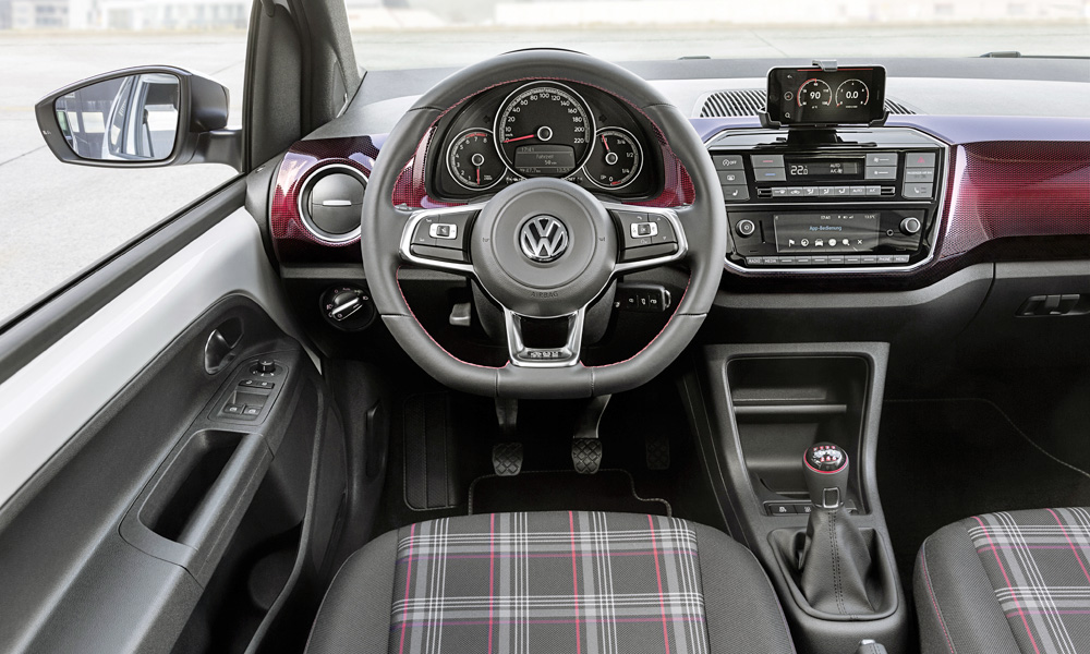 Plenty of nods to the GTI heritage in the cabin.