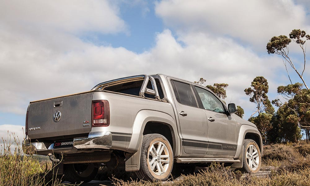 Amarok impressed in sand despite the fitment of road tyres.