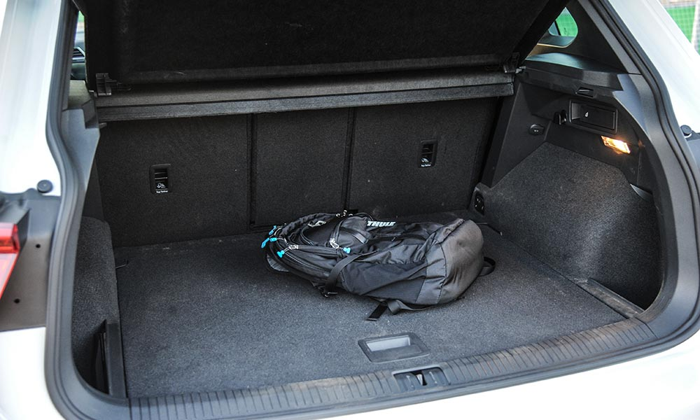 Boot space in the Tiguan is configurable.