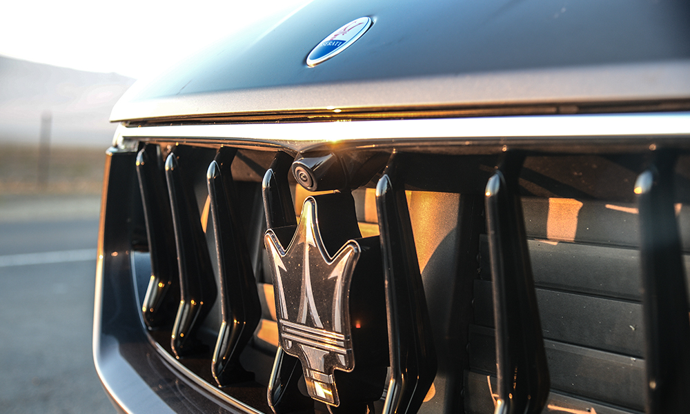 The air intake features active cooling vents.