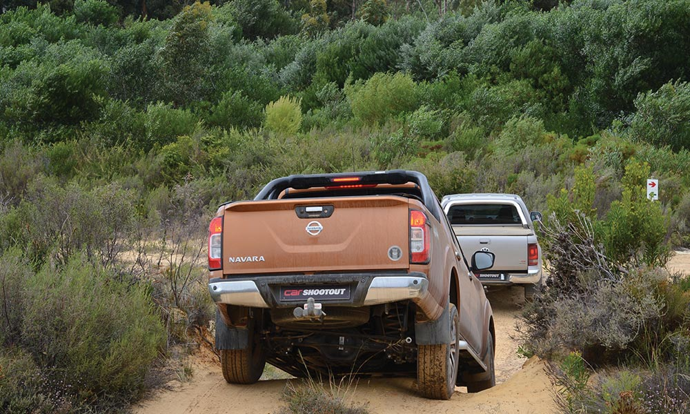 Nissan SA has specifically tuned the coil-sprung rear suspension of the Navara for local conditions.