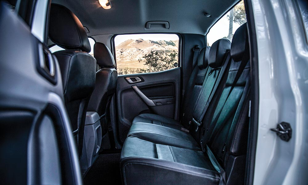 Rear-passenger comfort in the Ranger is the best of this group.