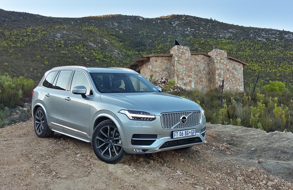 On the road, the XC90's air springs on the rear axle provide a cushioned ride.