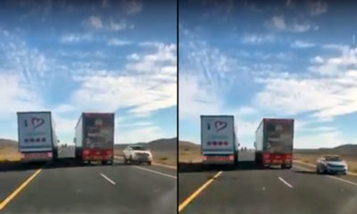 Truck overtaking on the N1