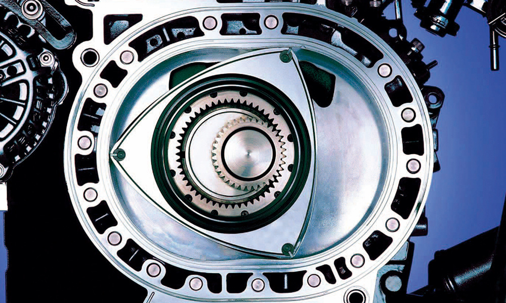 A rotary engine has fewer moving parts than a piston engine.