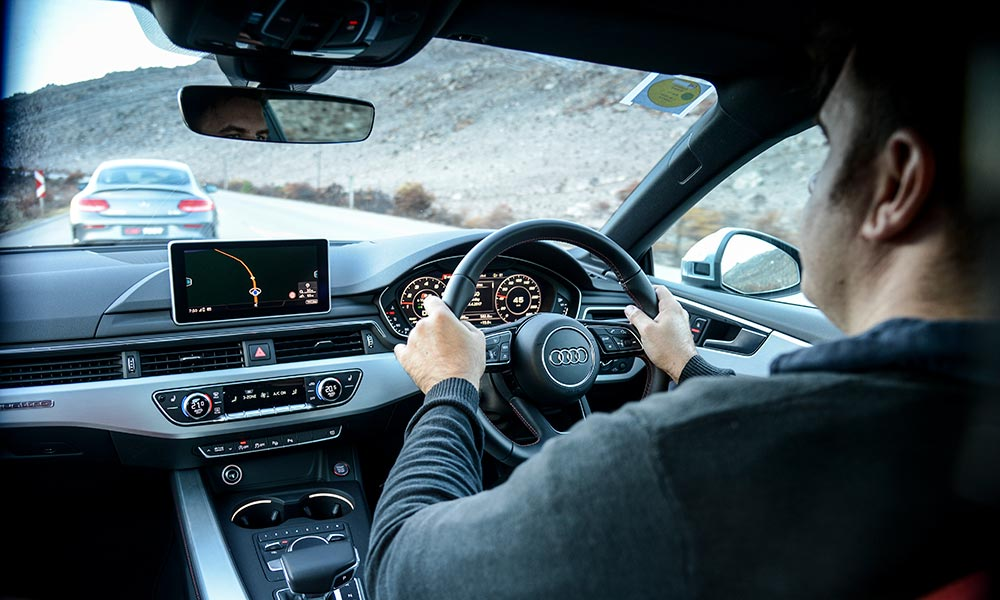 The steering in the S5, though, is precise.