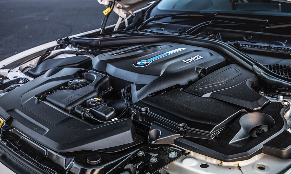 BMW powertrain is frugal but stutters when switching between power sources.