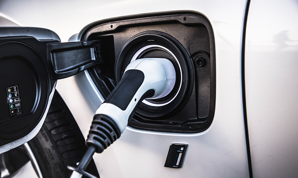 A full charge takes about 3,5 hours from a household socket for the 330e.