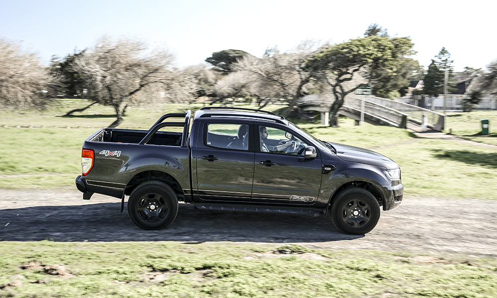 As with the XLT derivative, the Fx4 is at home off the beaten track.