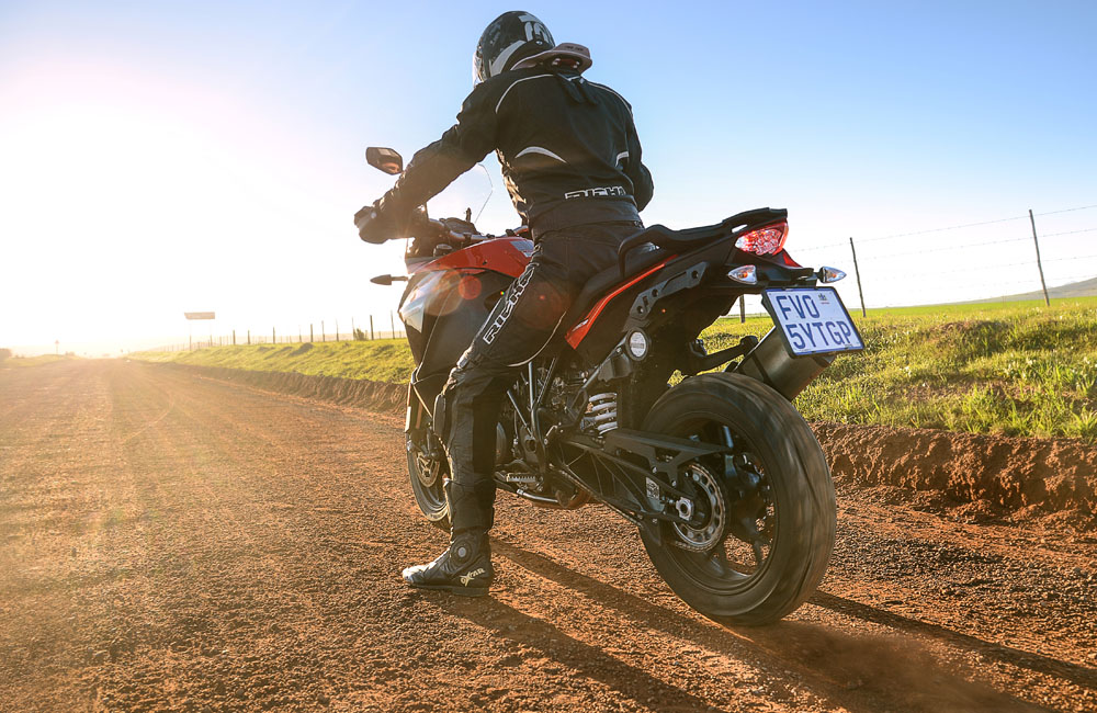 The road-biased tyres do a fine job on normal gravel surfaces.