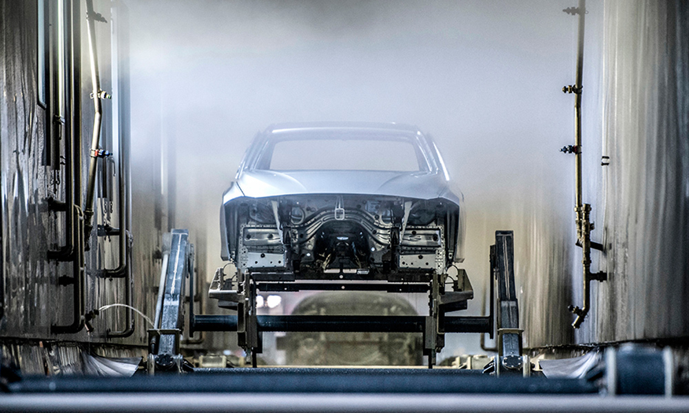 A 3 Series body goes through the process.