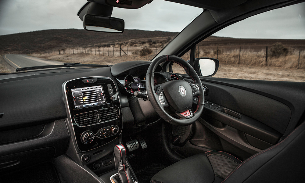 Lovely steering wheel and supportive seats.