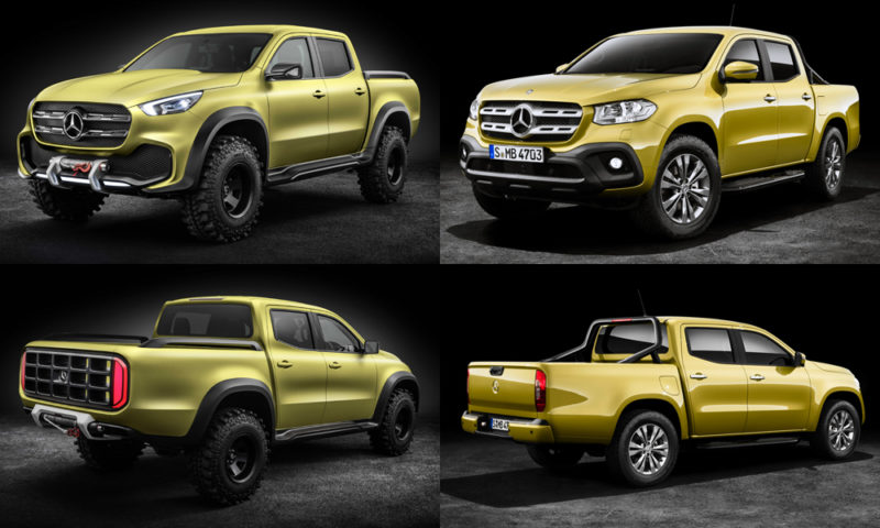 Mercedes Benz X Class Concept Vs Production Car Magazine