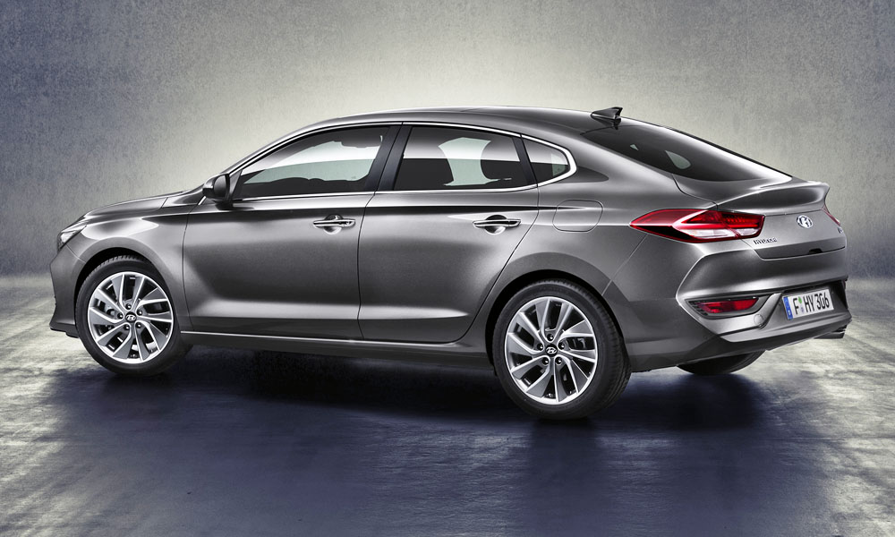 The i30 Fastback boasts a sleeker design compared to its hatchback sibling.