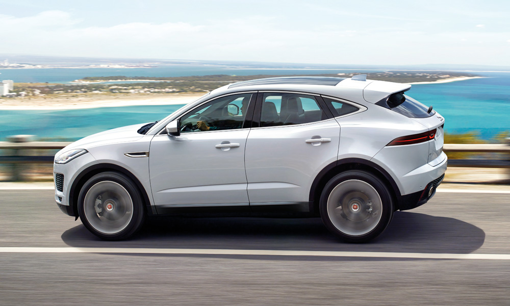 The E-Pace measures 4 395 mm long.