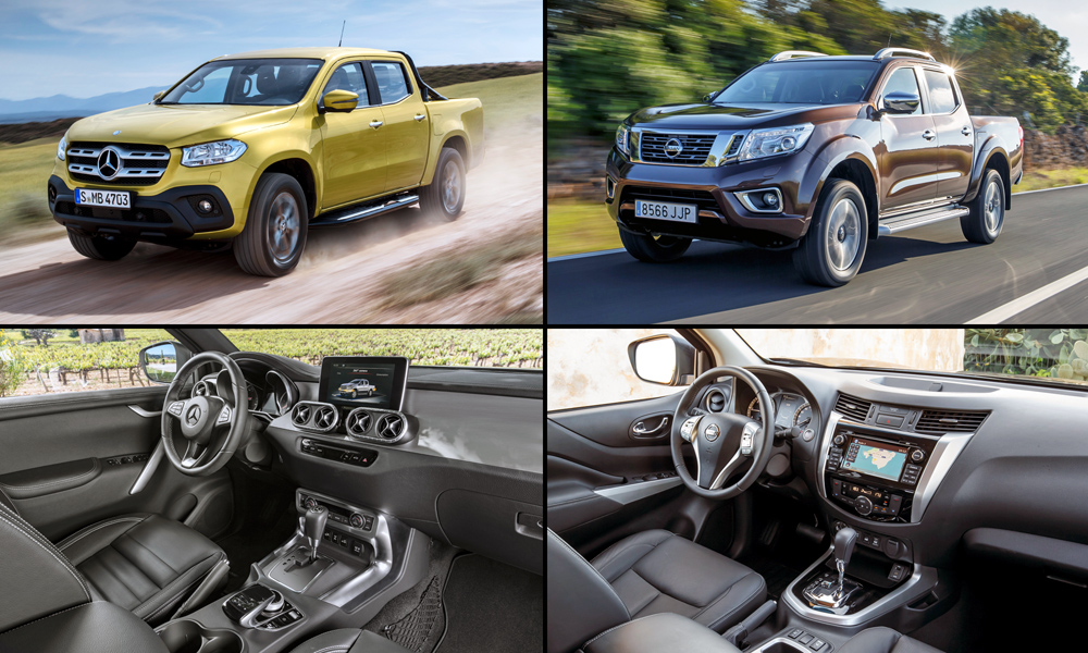 side by side mercedes benz x class vs nissan navara car magazine. Black Bedroom Furniture Sets. Home Design Ideas