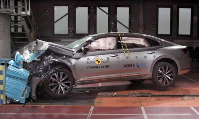 Volkswagen Arteon scores five stars in Euro NCAP crash-test.
